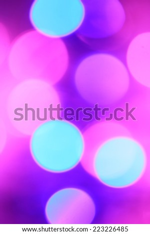 Colorful Christmas abstract background with bokeh lights - stock photo