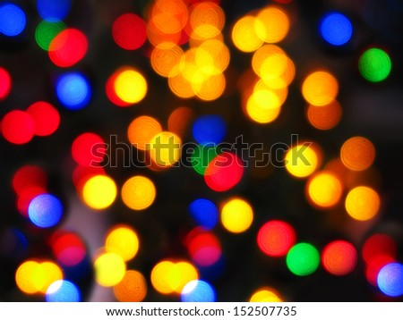 Colorful Christmas abstract blurred multicolored lights - stock photo