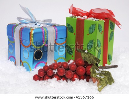 Colorful Christmas gifts