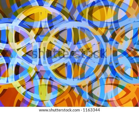 Colorful circle design pattern. - stock photo
