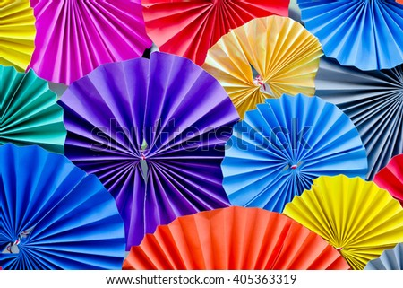 Colorful Circle shape folding paper background