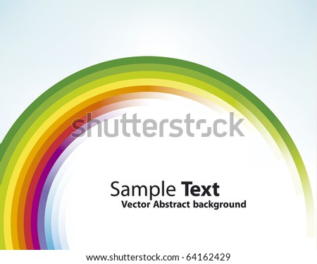 Colorful circular motion background - stock photo