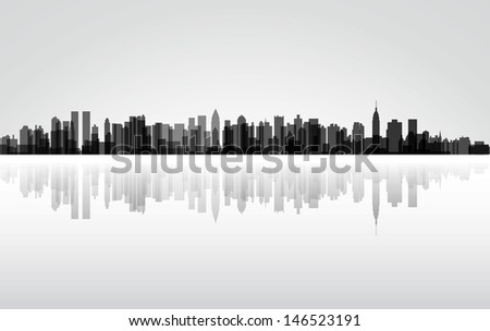 Colorful City New York panorama,  - stock photo