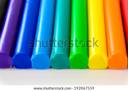Colorful clay - stock photo