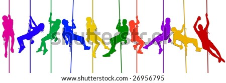 colorful climber 1 - stock photo