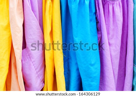 Colorful cloth, background - stock photo