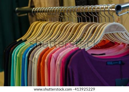 Colorful clothing,clothes, clothing, fashion. - stock photo