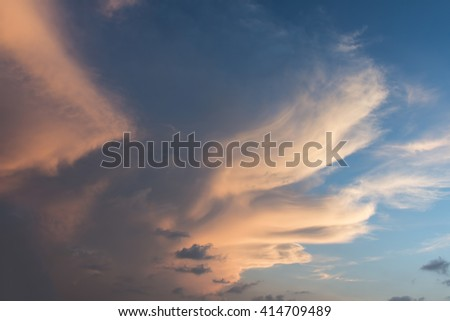 Colorful clouds sky