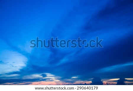 Colorful cloudy sky in twilight time - stock photo