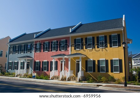 colorful coastal style rental apartments
