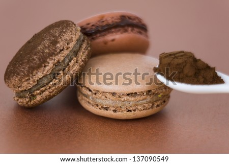 Colorful Coffee Macaroons - stock photo