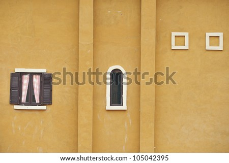 Colorful collage made of windows from thailand - stock photo