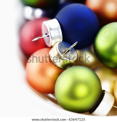 Colorful collection of Christmas Balls - stock photo