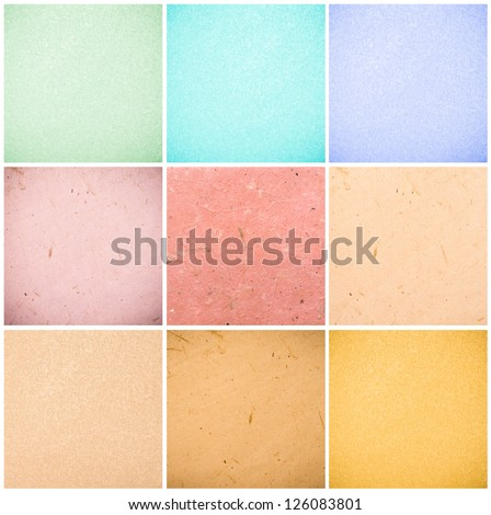 colorful collection of recycled paper backgrounds in high quality - total image size 24MP - stock photo