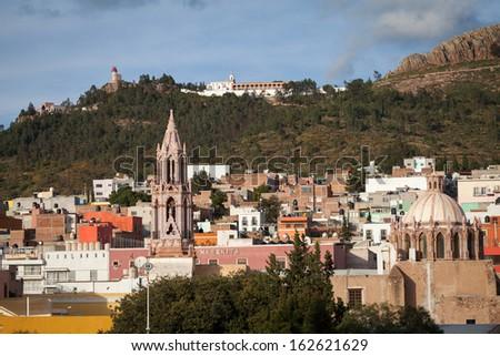 Colorful colonial city Zacatecas, Mexico - stock photo