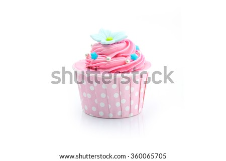 Colorful color cupcake isolated