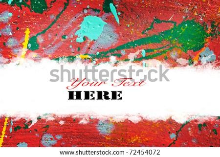 colorful color splash - stock photo