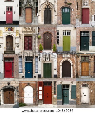 Colorful composition made of doors - architecture collage. Doors from Bruges Belgium. & Old Doors Turkey Stock Photo 84386362 - Shutterstock pezcame.com