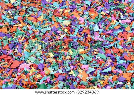 Colorful confetti background - stock photo