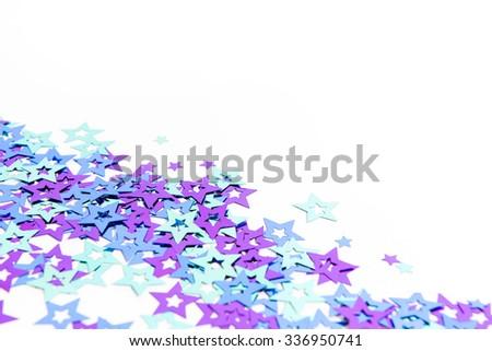 colorful confetti background. purple, blue, green - stock photo