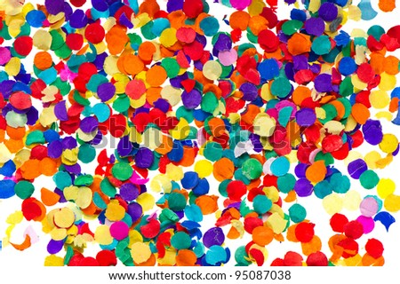 colorful confetti background. red, blue, green, yellow. carnival. birthday - stock photo