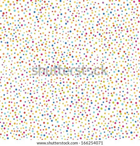 colorful confetti seamless pattern, raster version