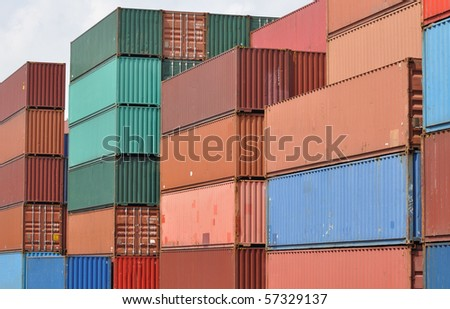 colorful containers - stock photo