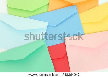 Colorful correspondence envelopes - stock photo