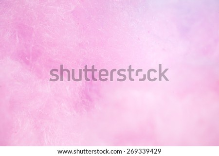colorful cotton candy in soft color for background - stock photo