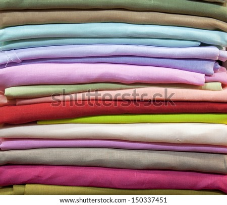 Colorful cotton fabric, fine fabrics beautiful silk.