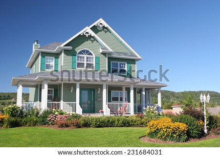 Colorful Country House - stock photo