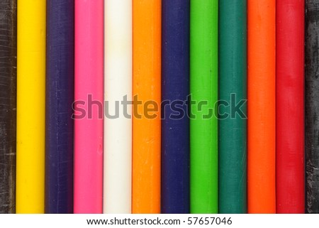 Colorful Crayons strip vertically