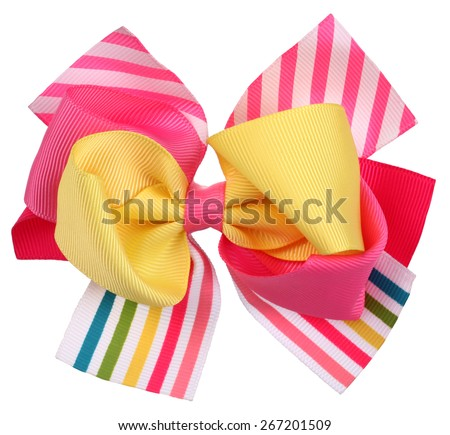 Colorful crazy bow tie or hair bow - stock photo
