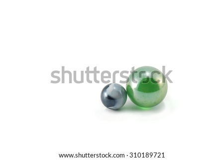 Colorful crystal, glass marble on white background - stock photo