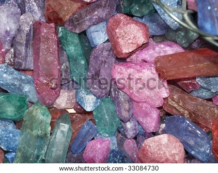 Colorful crystals - stock photo