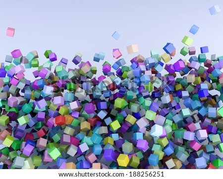 Colorful cubes background - stock photo
