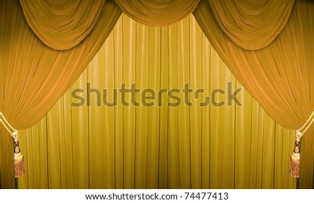 Colorful curtain of a classical theater
