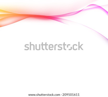 Colorful Curved on white Background  - stock photo