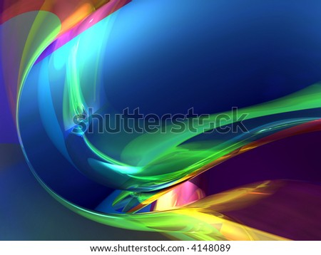 colorful 3d abstract - stock photo