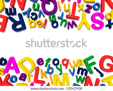 colorful 3d letters - stock photo