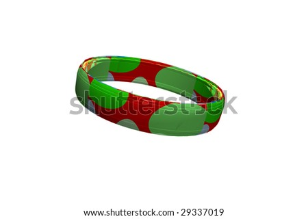 Colorful 3D ring - stock photo