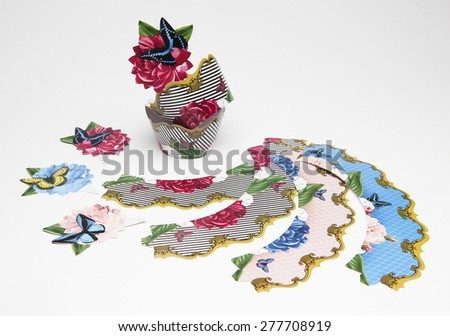 colorful decoration for parties - stock photo