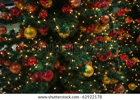 Colorful decoration of Christmas tree
