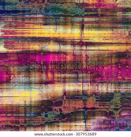 Colorful designed grunge background. With different color patterns: yellow (beige); purple (violet); blue; pink - stock photo