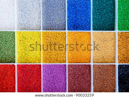 colorful designer architect sample of color stones for flooring and facade - stock photo