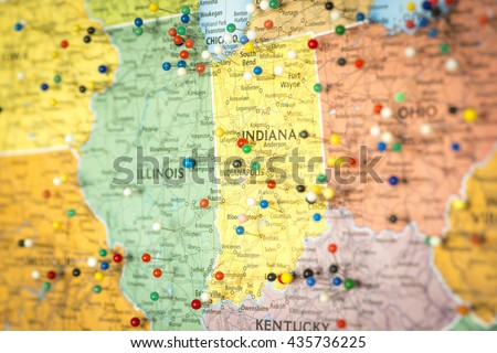 Midwest Map Stock Images RoyaltyFree Images Vectors Shutterstock - Us map close up