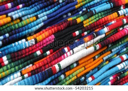 Colorful details of market in San Cristobal de las Casas - stock photo