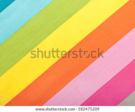 Colorful diagonal stripes fabric texture for background - stock photo
