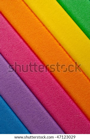 Colorful diagonally striped background - stock photo