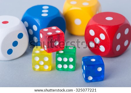 Colorful dice